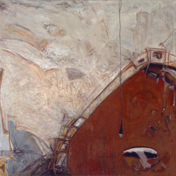 Schiff voraus! 1992, 160 x 160 cm