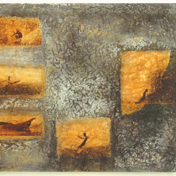 beachboys,2001, 70 x 130 cm