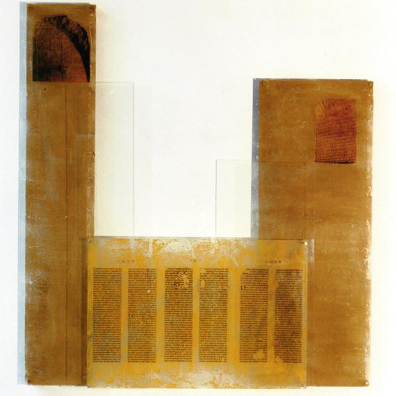 BuchZeiten, 1994, 134 x 123 x 12 cm