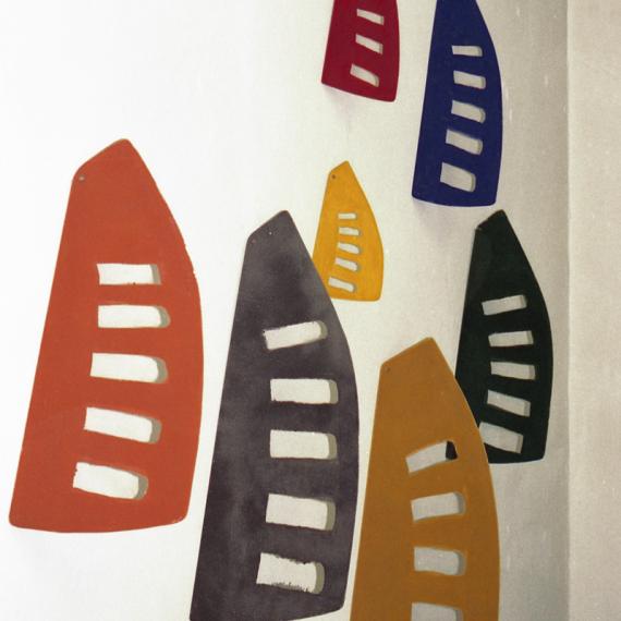 Schattensegel,Wandinstallation,1997, 300 x 370 x 45 cm