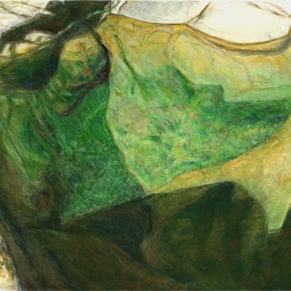 Samragd-Wasser,2005, 64 x 89 cm