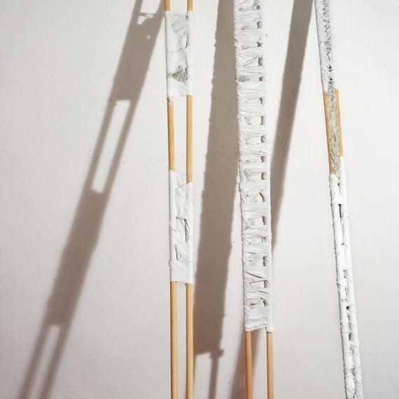 Steelen für Giacometti,1990, 300 x 110 x 45 cm